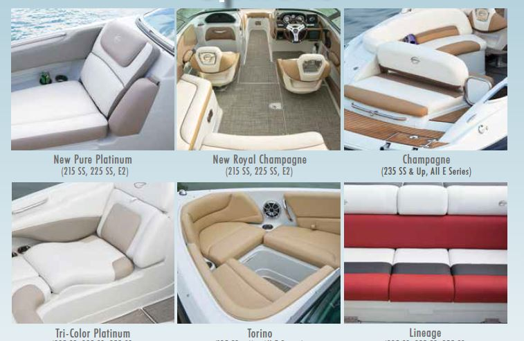 NEW Royal Champagne Interior (Pearl White Vinyl With Camel U0026 Dark Oak  Accents, Dark Oak Helm With Executive Wood Wheel, Teak Look Swim Platform  Mat, Exch.), ...