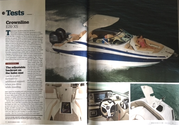 Boating Magazine - E29XS - Crownline